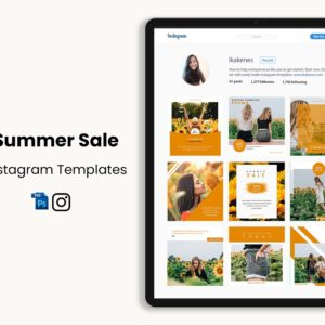 Summer Sale Instagram Templates