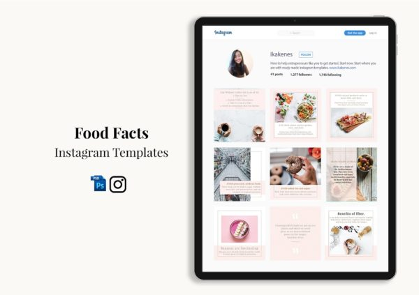 Food Facts Instagram Templates