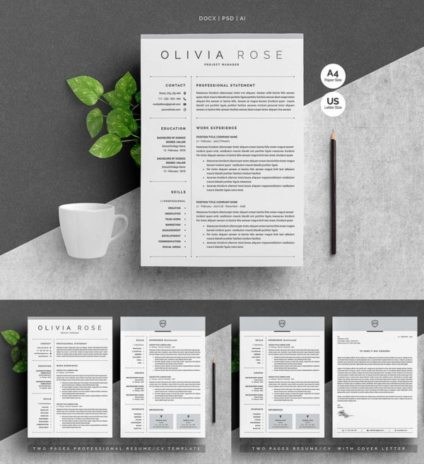 3-Pages-Word-Resume-Template