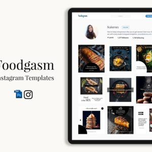 Foodgasm Instagram Templates