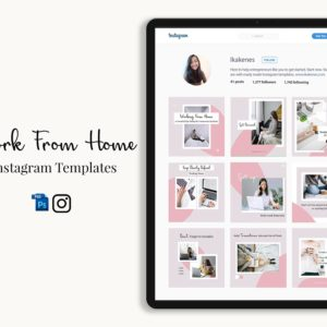 Work from home instagram templates