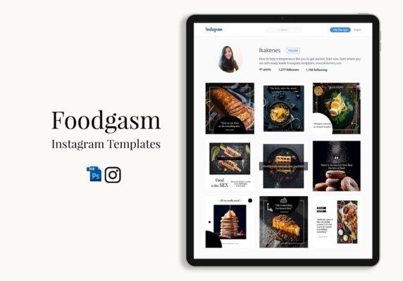 Foodgasm Instagram Templates